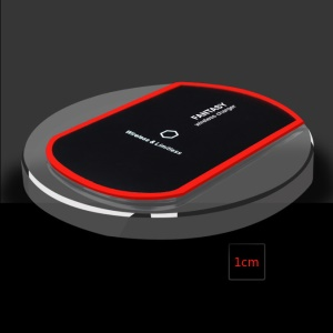 Round 5W Qi Wireless Charging Pad for iPhone 8/8 Plus, Samsung S8/S8 Plus etc. - Black