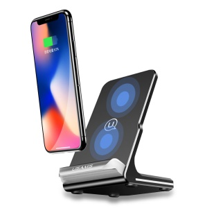 USAMS US-CD28 Wireless Fast Charging Stand Holder for iPhone Samsung