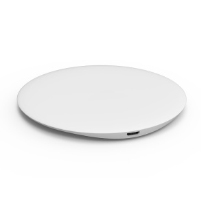 USAMS US-CD24 Boswell Series Electroplating Qi Wireless Charging Mat for iPhone X/8/8 Plus/Samsung Galaxy Note8/S8/S7/S6 Etc - White