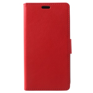 Wallet Magnetic Stand Leather Mobile Phone Cover for Alcatel U5 (3G Version) - Red