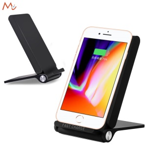 3-Coil Qi Wireless Charging Stand Foldable Wireless Charging Pad for iPhone X/8/8 Plus, Samsung Note 8/S8 (Not Support FOD Function)