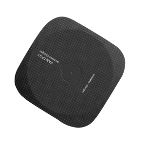 W01 Qi Wireless Charging Pad with LED Breathing Light for iPhone X/8/8Plus, Samsung Note 8/S8/S8 Plus - Black