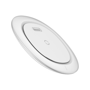 BASEUS UFO Qi Wireless Charge Pad Desktop Charge Mat for iPhone X/8/8 Plus, Samsung Note 8 - White