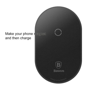 BASEUS Slim Microfiber Wireless Charging Receiver for Phone with Micro USB Port - Black