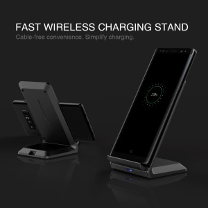 NILLKIN Dual Coil Wireless Charging Pad Stand (Not Support FOD Function) for iPhone X/8/8 Plus/Samsung Galaxy Note8/S8/S7/S6 Etc.