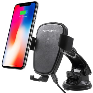 360 Degree Rotation Vehicle-mounted Wireless Charging Cradle with Suction Cup