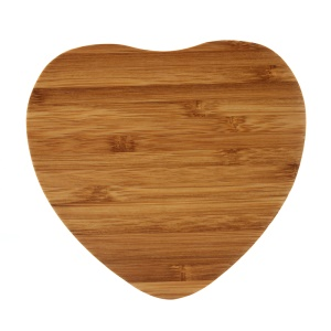 Heart Shape Bamboo Shell Qi Wireless Charging Pad for iPhone X/8/8Plus, Samsung S8/S8 Plus