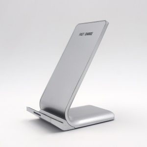 N700 Fast Charging Qi Wireless Charger Stand Dock for iPhone X / 8 / Samsung Galaxy S8 - Silver