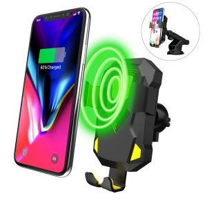 Multi-purpose Car Fast Wireless Charger Qi Wireless Charging Stand for iPhone X/8/8 Plus