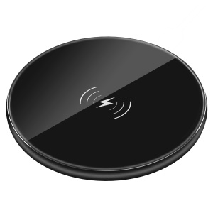 DEVIA Aurora Series Ultra-thin Qi Wireless Charger for iPhone Samsung etc. - Black