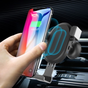 BQ001 Car Air Vent Mount Qi Wireless Charger QC3.0 Quick Charge Fast Charging Pad Car Holder Stand for iPhone X/8 Plus/Samsung S8 S9 Plus