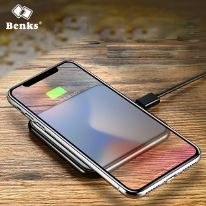 BENKS Thin Cube Aluminum Alloy Qi Wireless Charger for iPhone Samsung etc. - Black