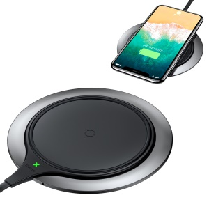 BASEUS Electroplating Zinc Alloy 10W/7.5W Qi Wireless Charging Pad - Black