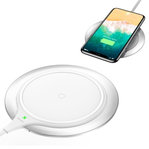 BASEUS Metal Intelligent Qi Wireless Charger Mat 10W/7.5W Quick Charge Wireless Charger - White