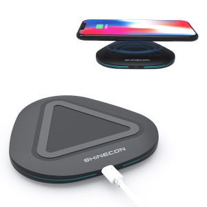 SHINECON W01 Ultra-thin Qi Wireless Charger for iPhone Samsung etc. - Black