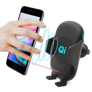 C10 Infrared Motion Sensor Car Air Vent Qi Wireless Charger Phone Holder