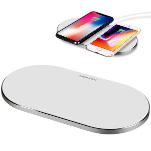 MOMAX UD11 Q.PAD PRO 360 Degree Rotatory Charging Qi Wireless Charger Fast Charge Mat - White