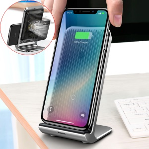 BASEUS 10W Desktop Qi Wireless Charger Holder with Micro USB Cable - Black
