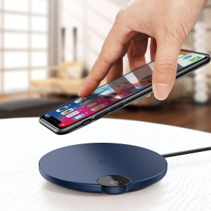 BASEUS BSWC-P21 Digital LED Display 10W Wireless Charger Pad - Blue