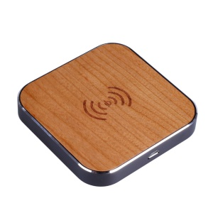 Wooden Qi Wireless Charger Pad Station for iPhone Samsung LG - Black