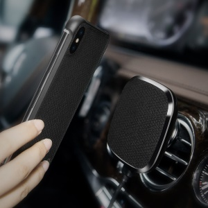 NILLKIN MC016 Car Air Vent Magnetic Wireless Charger A Model (Leather Set) - Black