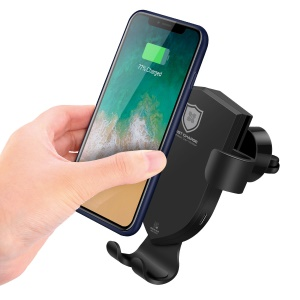 DUX DUCIS 360 Degree Rotary Gravity Car Air Vent Qi Wireless Charger Mount for iPhone X/8/8 Plus etc