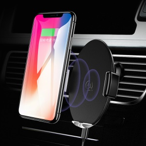 USAMS US-CD64 Auto-induction Car Air Vent Holder Qi Wireless Charger for iPhone X/8 Plus/Samsung S8 S9 Plus