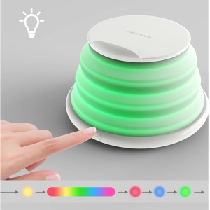 MOMAX Q.LED Rainbow Color Charging Lamp with Wireless Charger - White