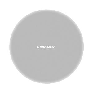 MOMAX UD12 15W Wireless Charger Fast Charging Pad for iPhone Samsung etc. (Not Support FOD Function) - Silver