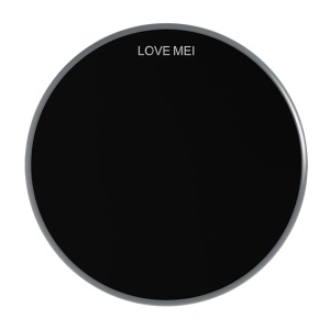 LOVE MEI Mirror-like Surface Qi Wireless Quick Charging Pad for iPhone Samsung LG etc. - Grey