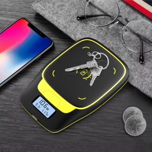 S8 10W Portable Qi Wireless Fast Charging Pad with LCD Digital Display for iPhone Samsung etc.