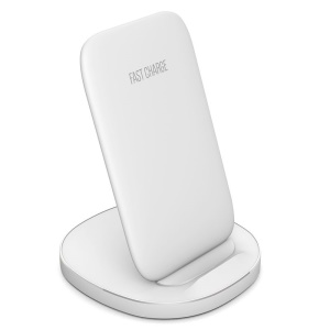10W Qi Wireless Fast Charger Stand [Support FOD Function] for iPhone Samsung etc. - White
