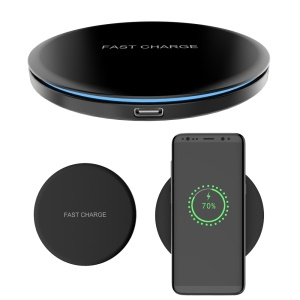QX100 Qi Wireless Fast Charger Support FOD Function for iPhone XS Max/XS/XR/X, Samsung Galaxy Note9/Note 8/S10/S10+/S10e Etc.