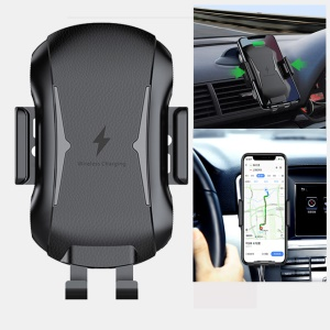Wireless Car Charger Mount Auto Clamping Car Phone Holder Dashboard