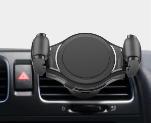 Wireless Car Charger Mount Qi Fast Charging Car Air Vent Mount Phone Holder - Black