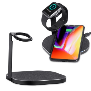 2 in 1 10W Fast Wireless Charger Stand for iPhone Samsung Huawei Devices