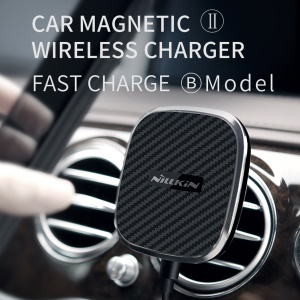 NILLKIN Car Magnetic Wireless Charger II Fast Charge with Press Type Clip B Mode for iPhone XS/XS Max/XR, Samsung Galaxy S10/S9/Note9/Note 8 etc.
