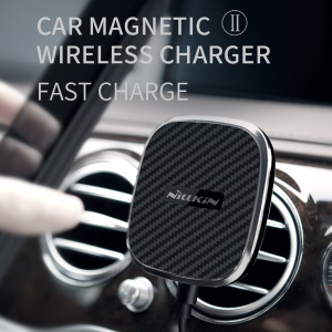 NILLKIN Car Magnetic Wireless Charger II Fast Charge A Mode for iPhone XS/XS Max/XR, Samsung Galaxy S10/S9/Note9/Note 8 etc.