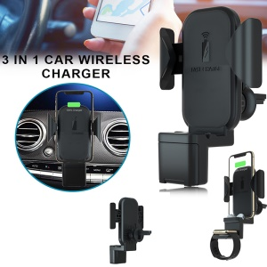 Portable 3-in-1 Car Wireless Charger for Apple Watch/iPhone/AirPods