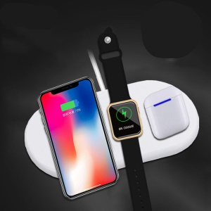 AIRPOWER 3 in 1 Airpower Wireless Charger Pad Qi Wireless Charger Holder for Apple Airpods 2th for Apple Watch for iPhone