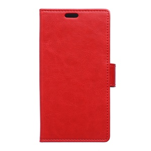 Crazy Horse Leather Stand Case for Alcatel One Touch Pop 3 (5) - Red