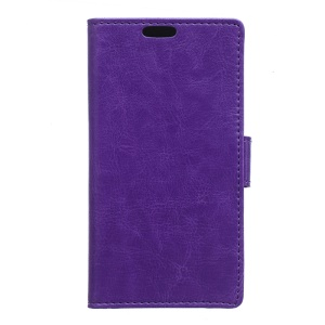 Crazy Horse Leather Stand Cover for Alcatel One Touch Pop 3 (5) - Purple