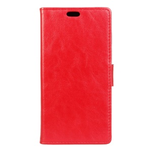 Leather Wallet Flip Cover for Alcatel OneTouch Pixi 4 (5.0) 4G Version - Red