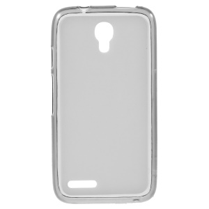 Double-sided Matte TPU Shell Case for Alcatel OneTouch Pixi 4 (3.5) - Grey