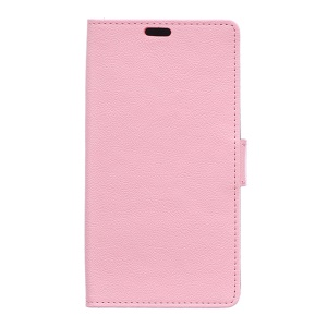 PU Leather Wallet Stand Cover for Alcatel OneTouch Pixi 4 (5.0) 4G Version - Pink