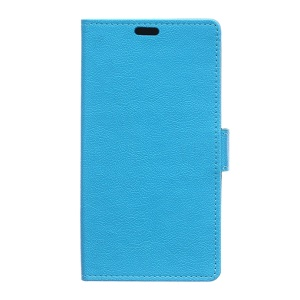 Stand Leather Card Holder Cover for Alcatel OneTouch Pixi 4 (5.0) 4G Version - Blue
