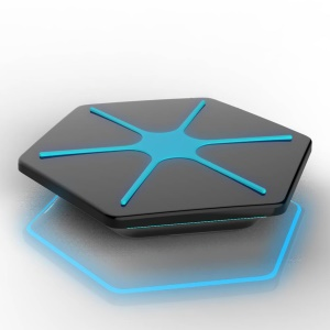 JHC WL10 Hexagon QI Wireless Charger for Samsung Galaxy S6/S6 Edge Etc - Black / Blue