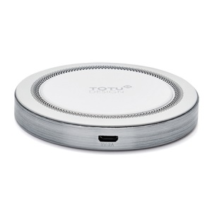 TOTU Quick Series QI Standard Round Wireless Charging Pad for Samsung Galaxy S7 edge/S7 - Silver/White