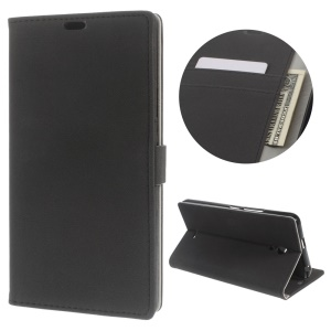 Flip Case Leather Wallet Stand Cover for Alcatel Pixi 4 (6) 3G Version - Black