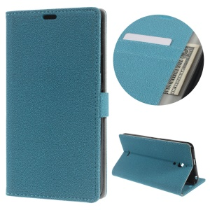 Flip Case Leather Wallet Protector Shell Cover for Alcatel Pixi 4 (6) 3G Version - Blue